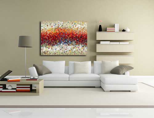 Captivating ... Canvas Art Living Room · Abstract Art Seventeen